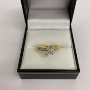 Secondhand 18ct Gold Diamond Cluster Ring