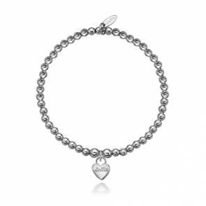 Dollie The Signature Dollie Heart Silver Bracelet - B0001