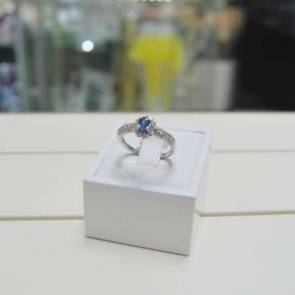 18ct |White Gold Diamond & Sapphire Fancy Ring