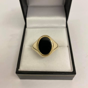 Secondhand 9ct Gold Onyx Signet Ring