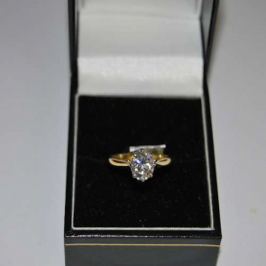 Secondhand 18ct Gold Diamond Solitaire Ring