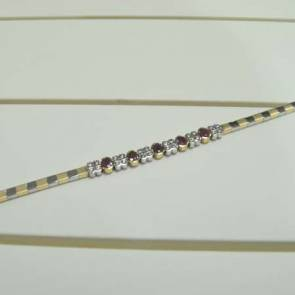 18ct Bi-colour Gold Ruby & Diamond Bracelet