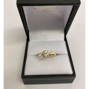 Secondhand 18ct Gold Diamond Solitaire Ring .33ct