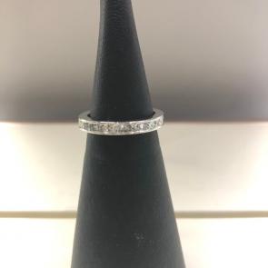 Platinum Princess Cut Full Diamond Eternity Ring