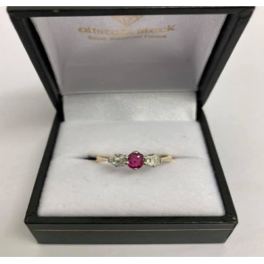 Secondhand 18ct Gold Diamond & Ruby Ring