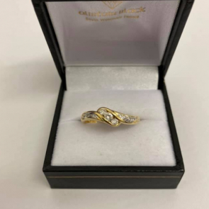 Secondhand 18ct Gold Diamond Twist Crossover Ring