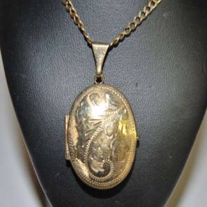 Secondhand 9ct Gold Oval Locket