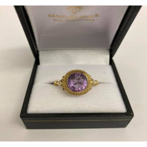 Secondhand 9ct Gold Amethyst Ring
