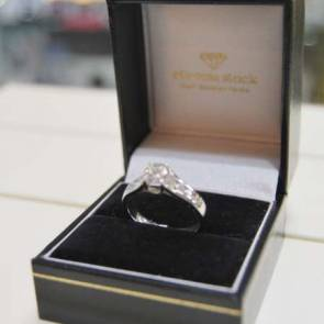 Platinum Diamond Ring with Diamond Shoulders .75ct