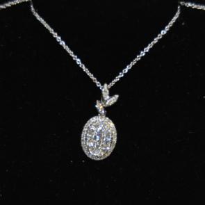 Secondhand 14ct Diamond Cluster Pendant
