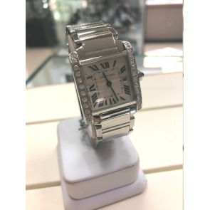 NEW IN! After Set Diamond set Cartier Tank Francaise