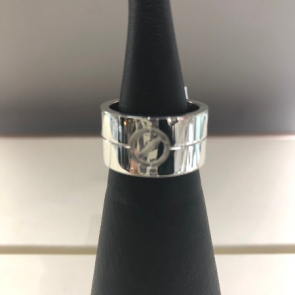 18ct White Gold Cartier Style Band Ring