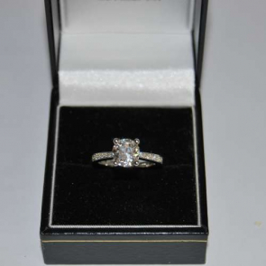 Secondhand 18ct White Gold Diamond Solitaire Ring
