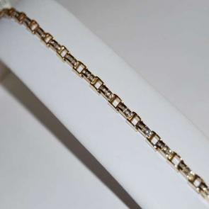 Secondhand 9ct Gold Diamond Bracelet