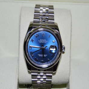Pre-owned Blue Dial Rolex